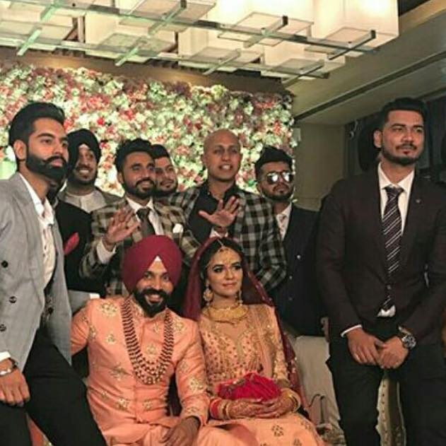 Here it's all about Dilpreet Dhillon's wedding....