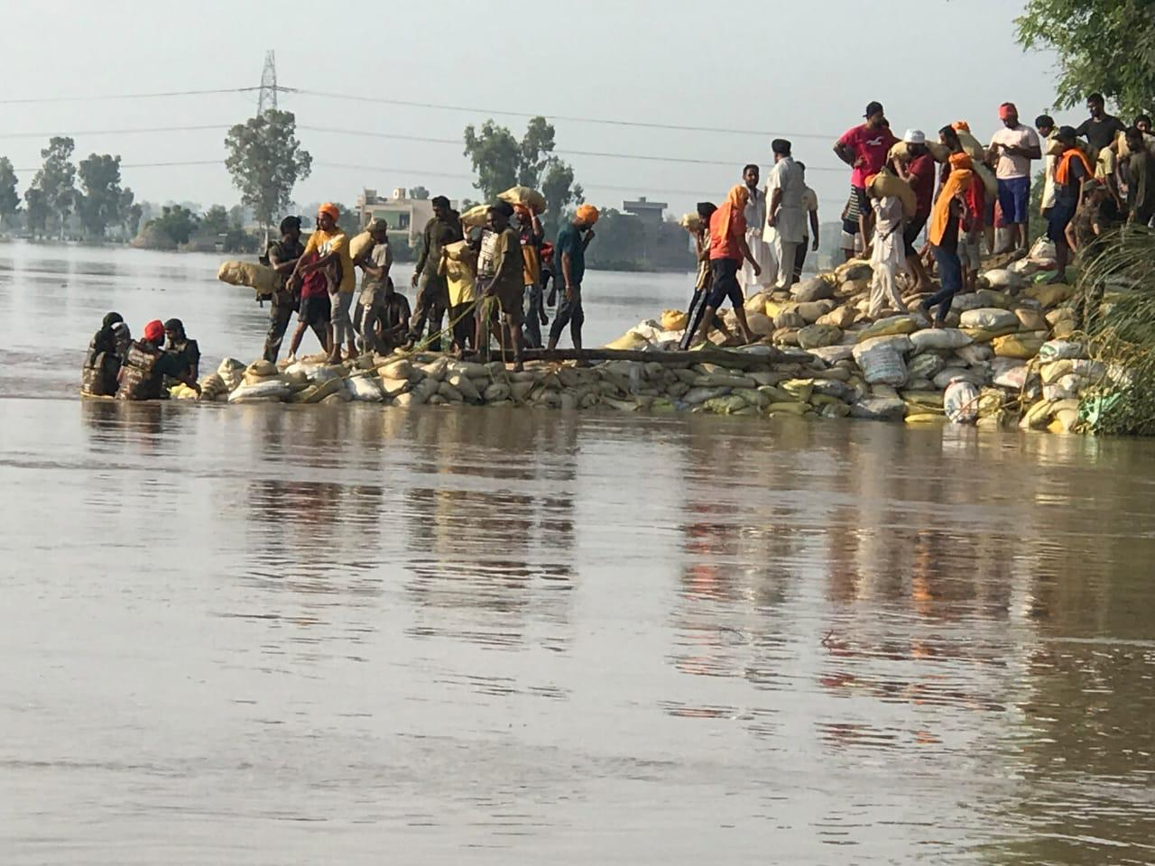 flood-ravaged villages